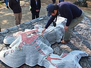 地形模型で見学箇所を確認・金山城, 1264.JPG