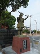 生品神社 新田貞義像